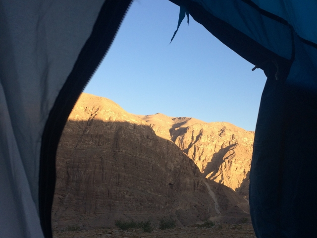Zeltübernachtung im Wadi Tiwi Oman