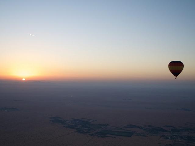 Sonnenaufgang über der Wüste