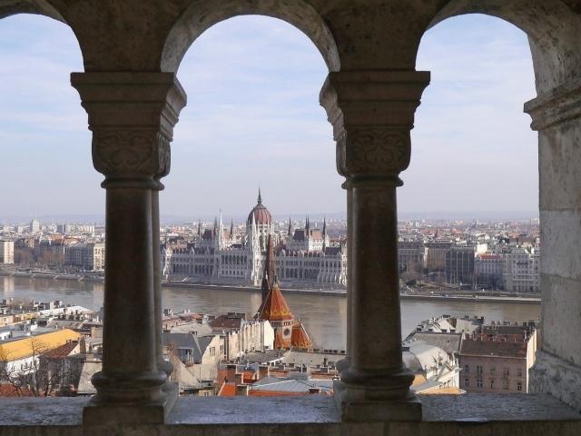 Blick von der Fischerbastei Budapest