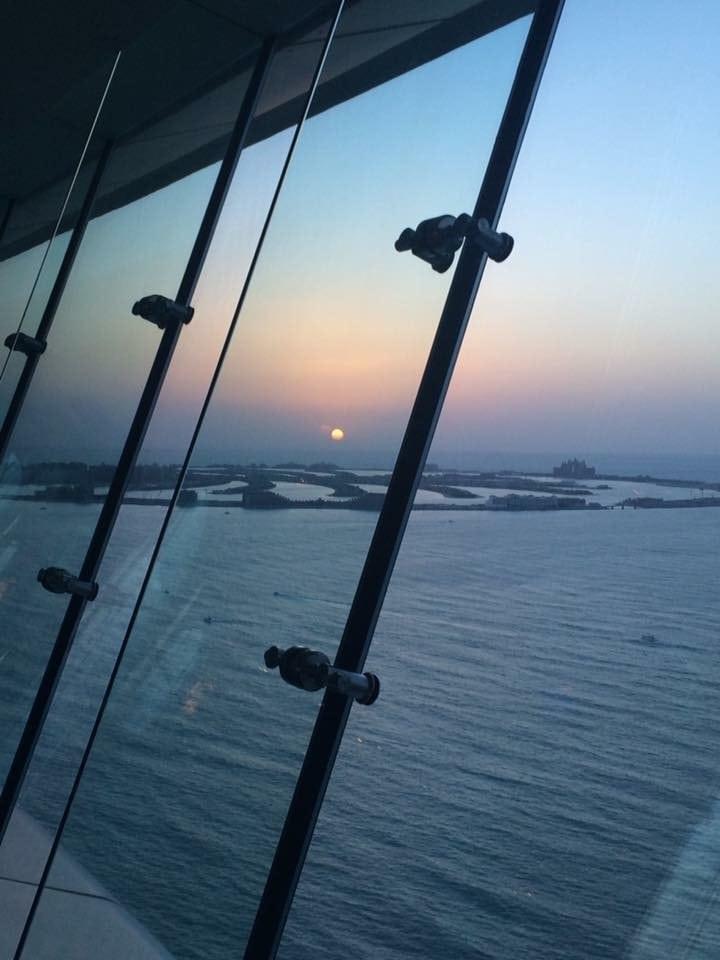 Sonnenuntergang Burj al Arab Dubai