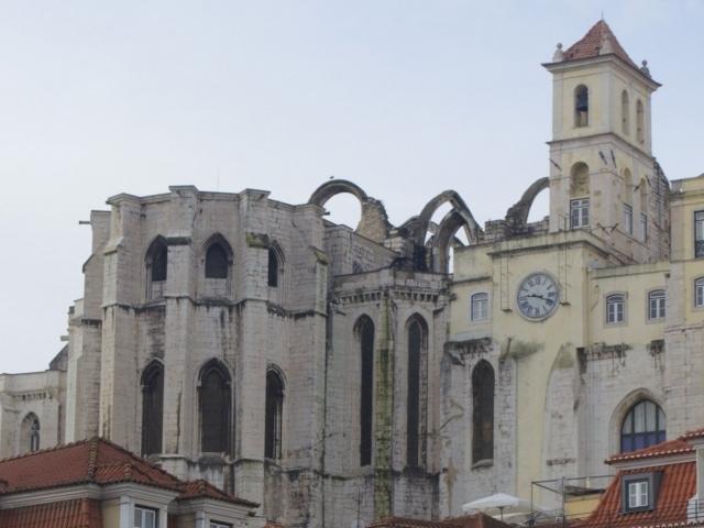 Convento de Lisboa vom Rossio Platz aus gesehen