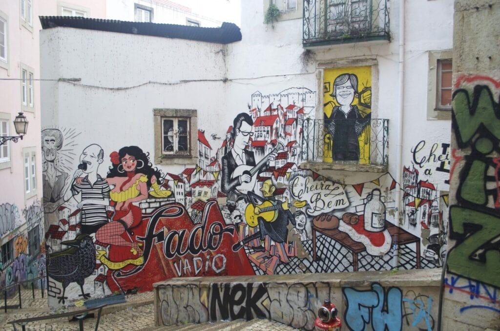 Graffitis in Lissabon