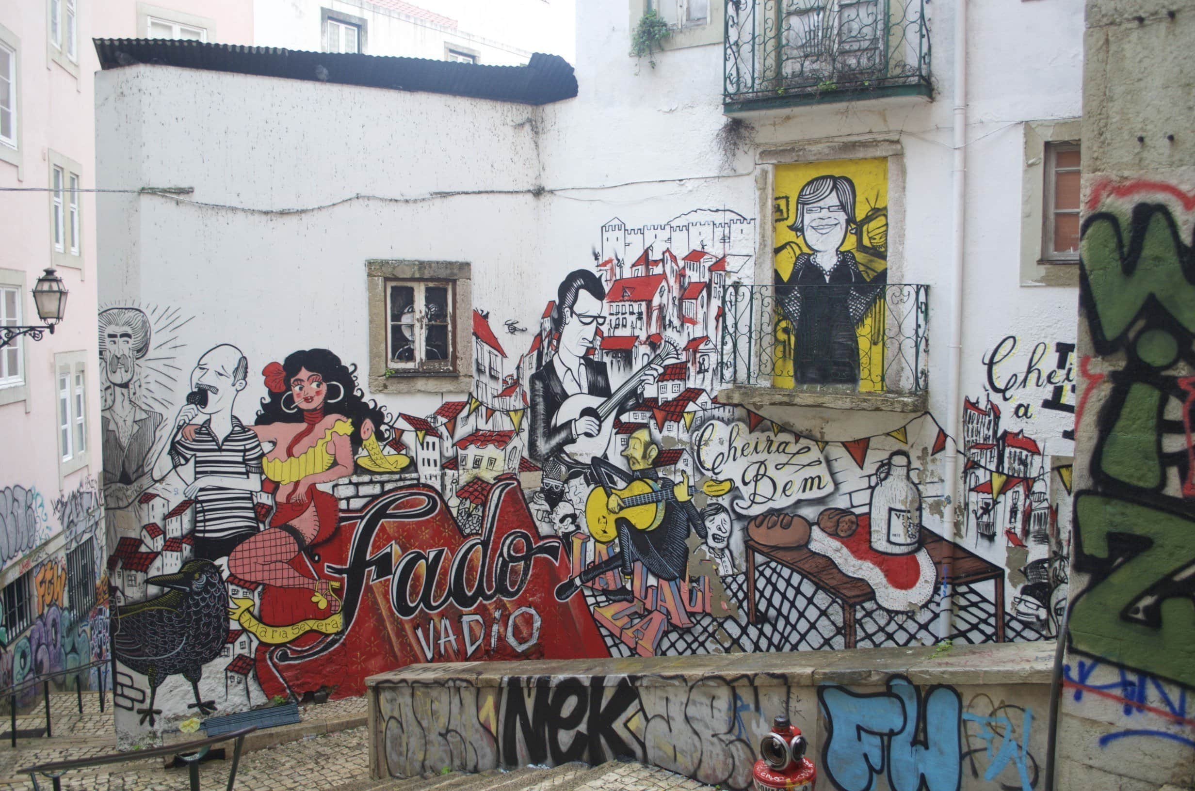 Graffitis in Lissabon