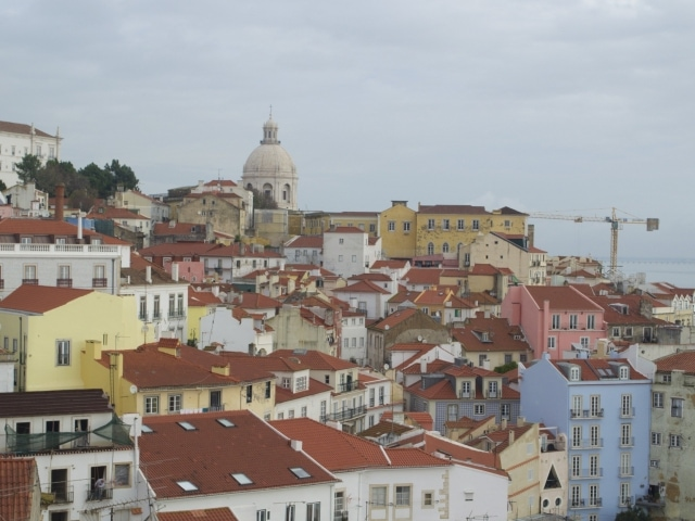Blick über die Alfama Lissabon