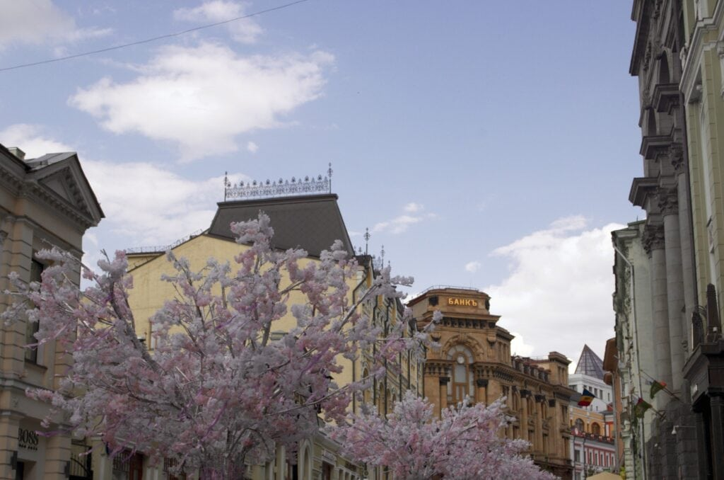 Frühling in Moskau