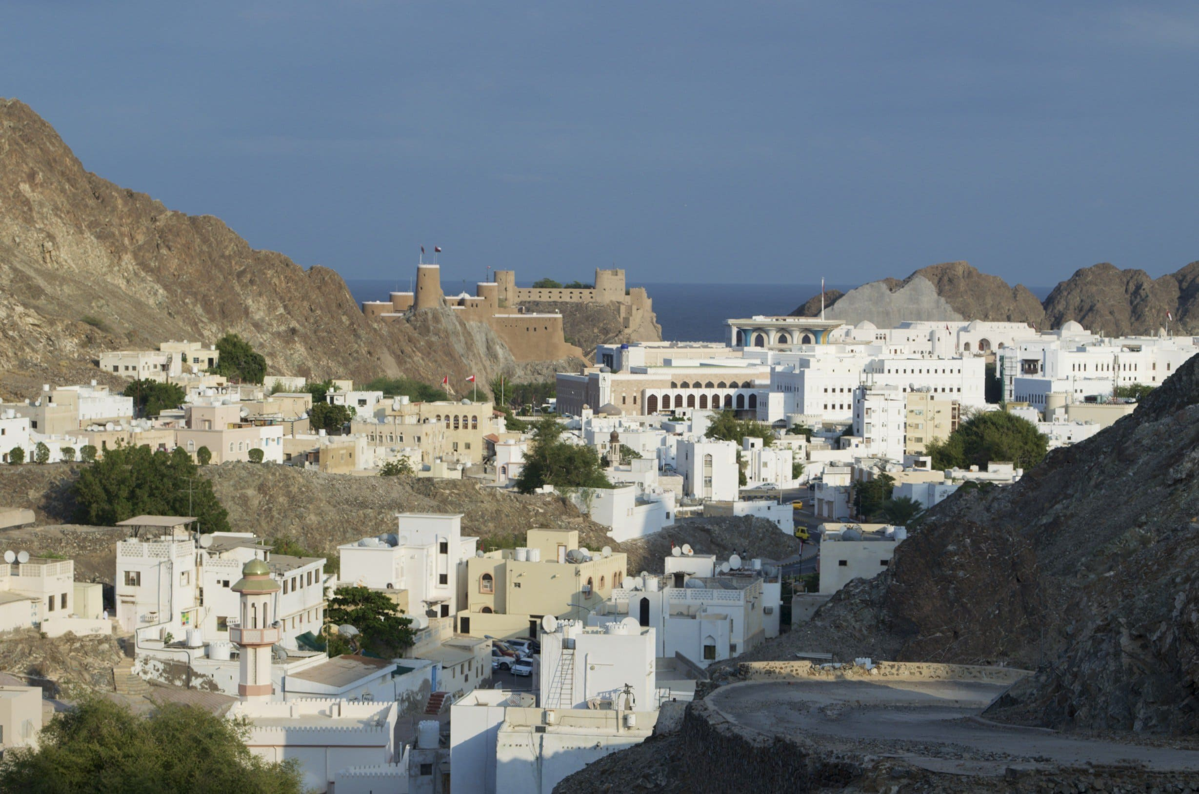 Regierungsviertel mit Sultanspalast in Muscat