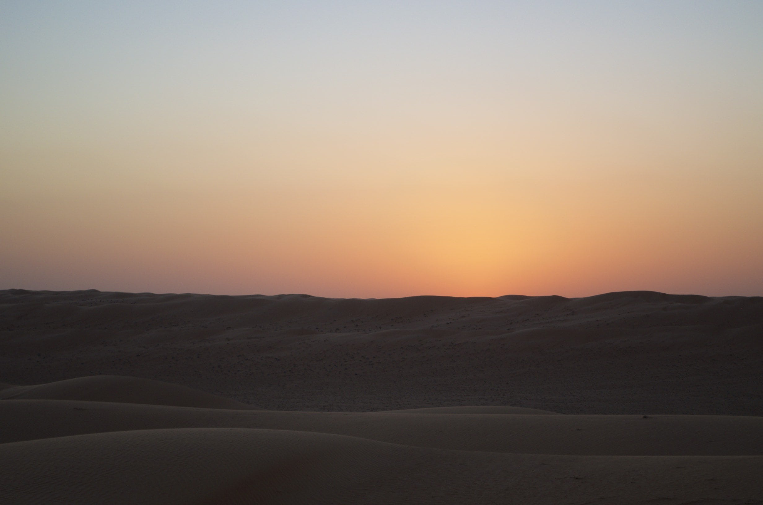 Wahiba-Sands Dämmerung über der Wüste