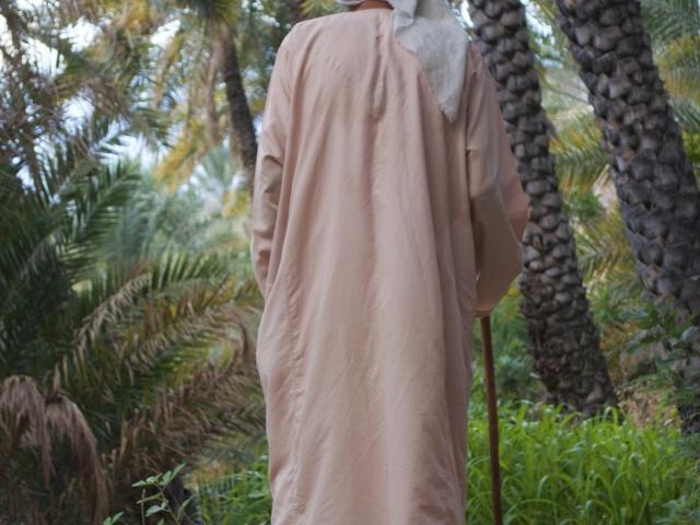 alter Mann in der Oase Misfah Oman