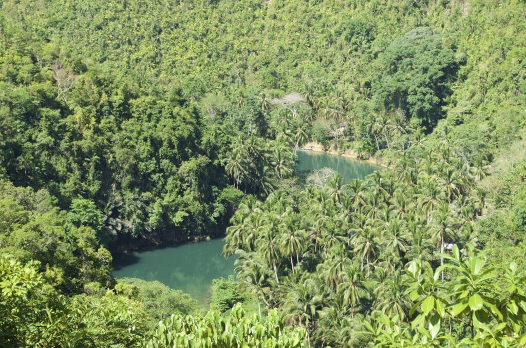 Aussichtspunkt hoch über dem Loboc River