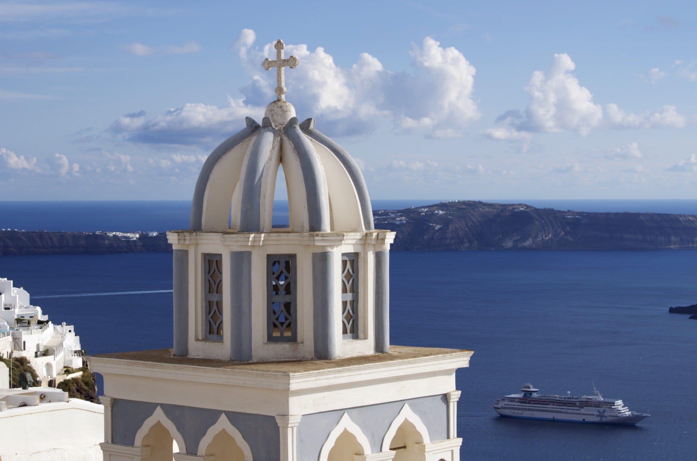 Kirchturm in Imerovigli
