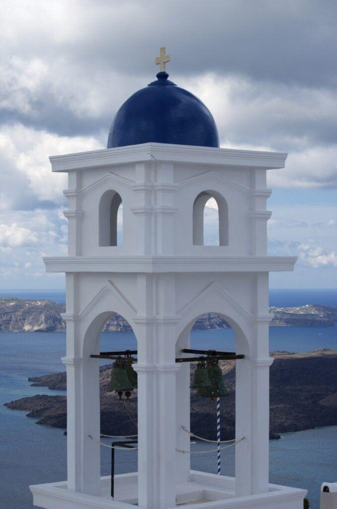 Blick über die Caldera von Imerovigli aus