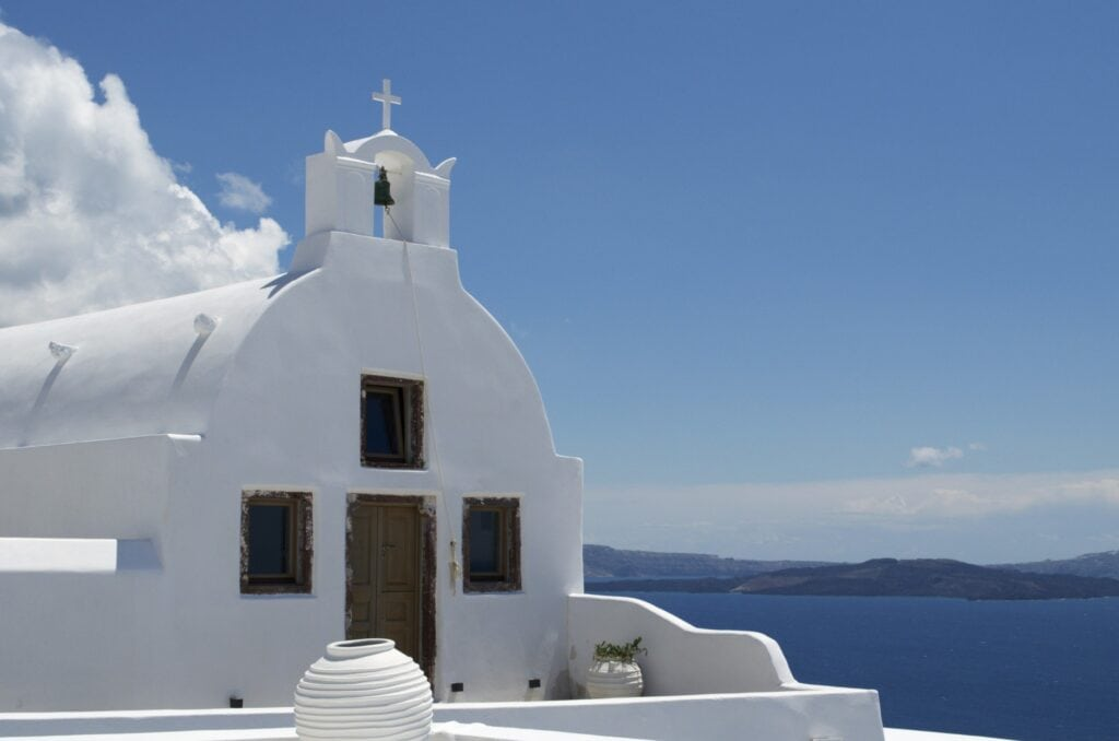 Kapelle in Oia, Santorin