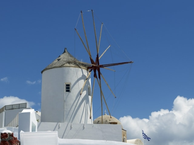 Windmühle in Oia