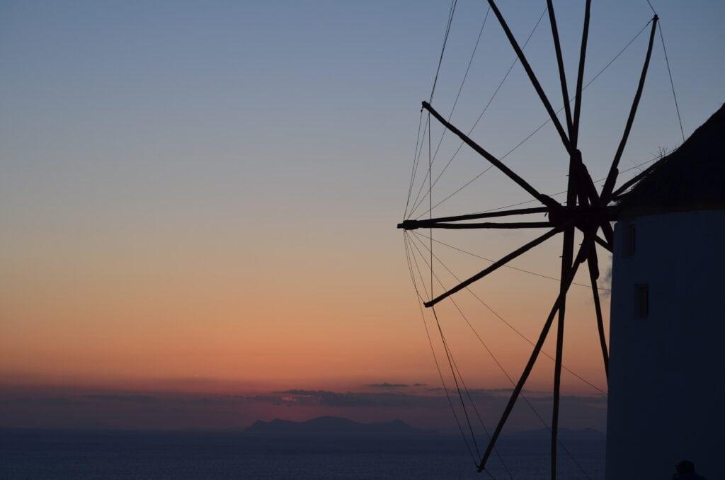 der berühmte Sonnenuntergang in Oia