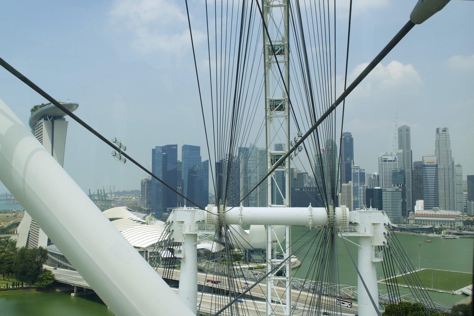 Marina Bay vom Singapur Flyer aus gesehen