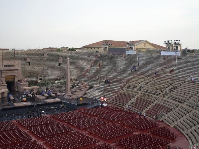 fast leere Arena die Verona vor der Vorstellung