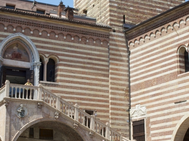 Innenhof beim Torre di Lamberti Verona