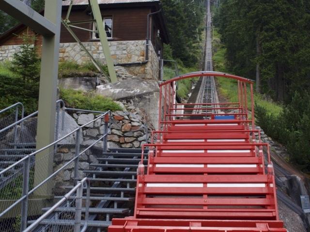 leere Gelmberbahn in der Talstation in Guttannen