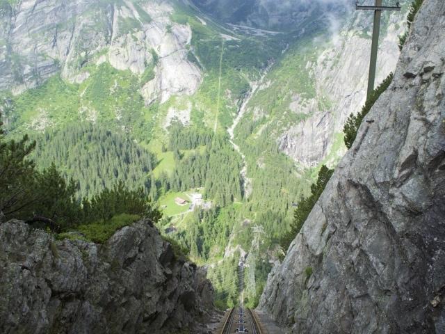steilste Stelle der Gelmerbahn