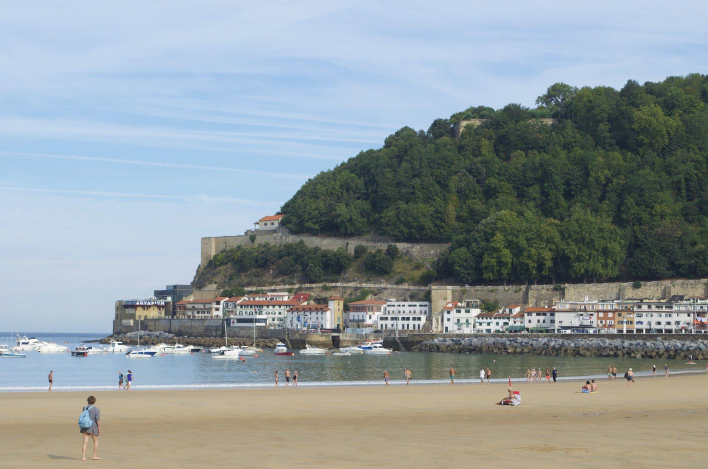 San Sebastian Hafen und Playa de la Concha