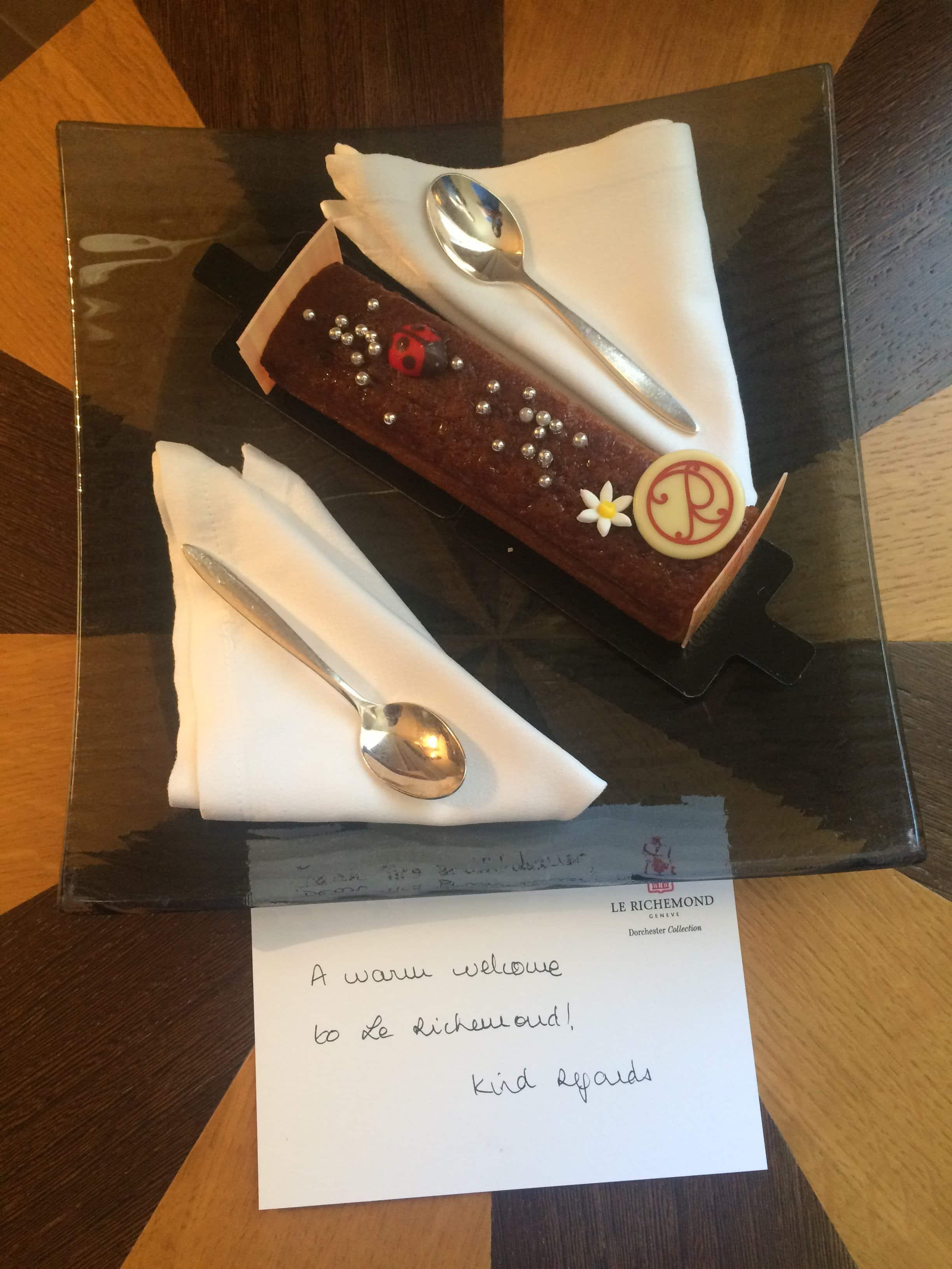 Süße Überraschung am Zimmer in Geneva
