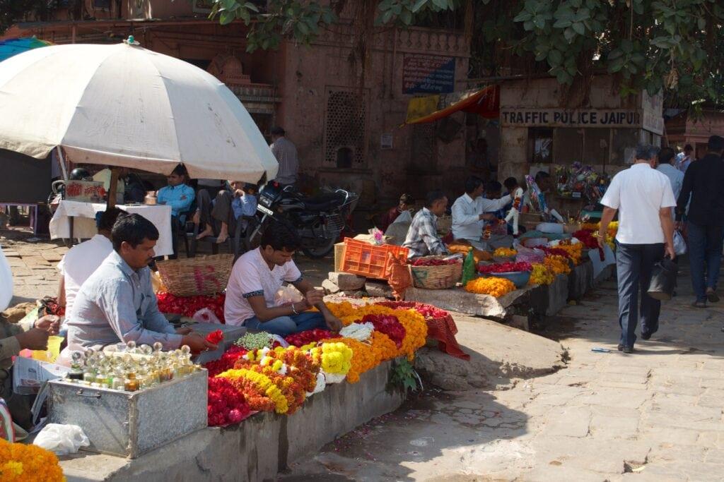 Blumenmarkt Jaipur