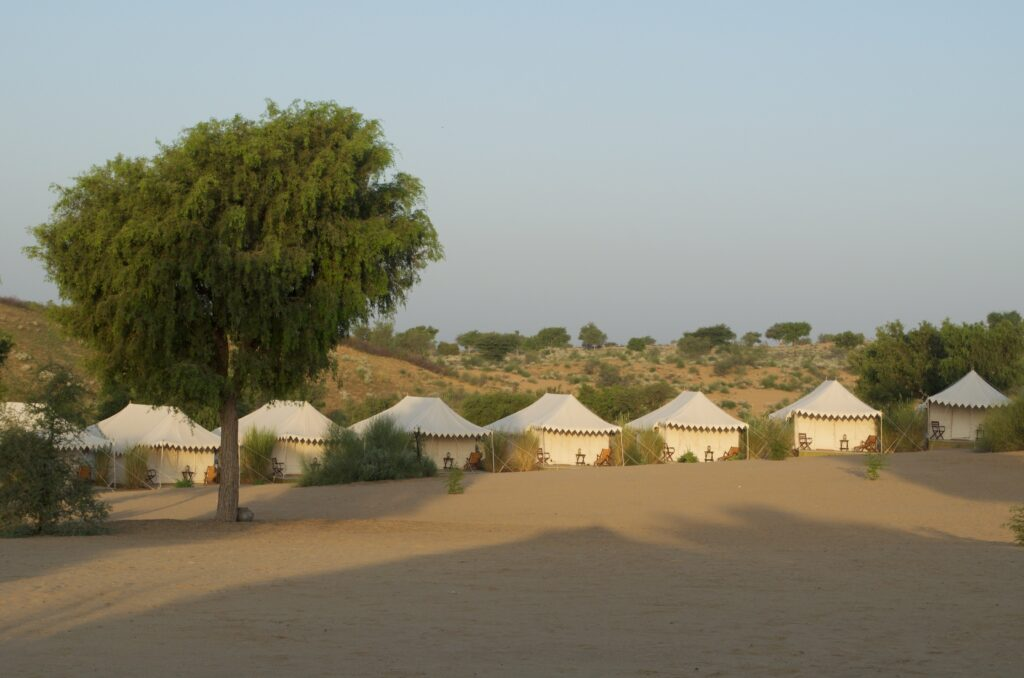 Manvar Desert Camp am Morgen