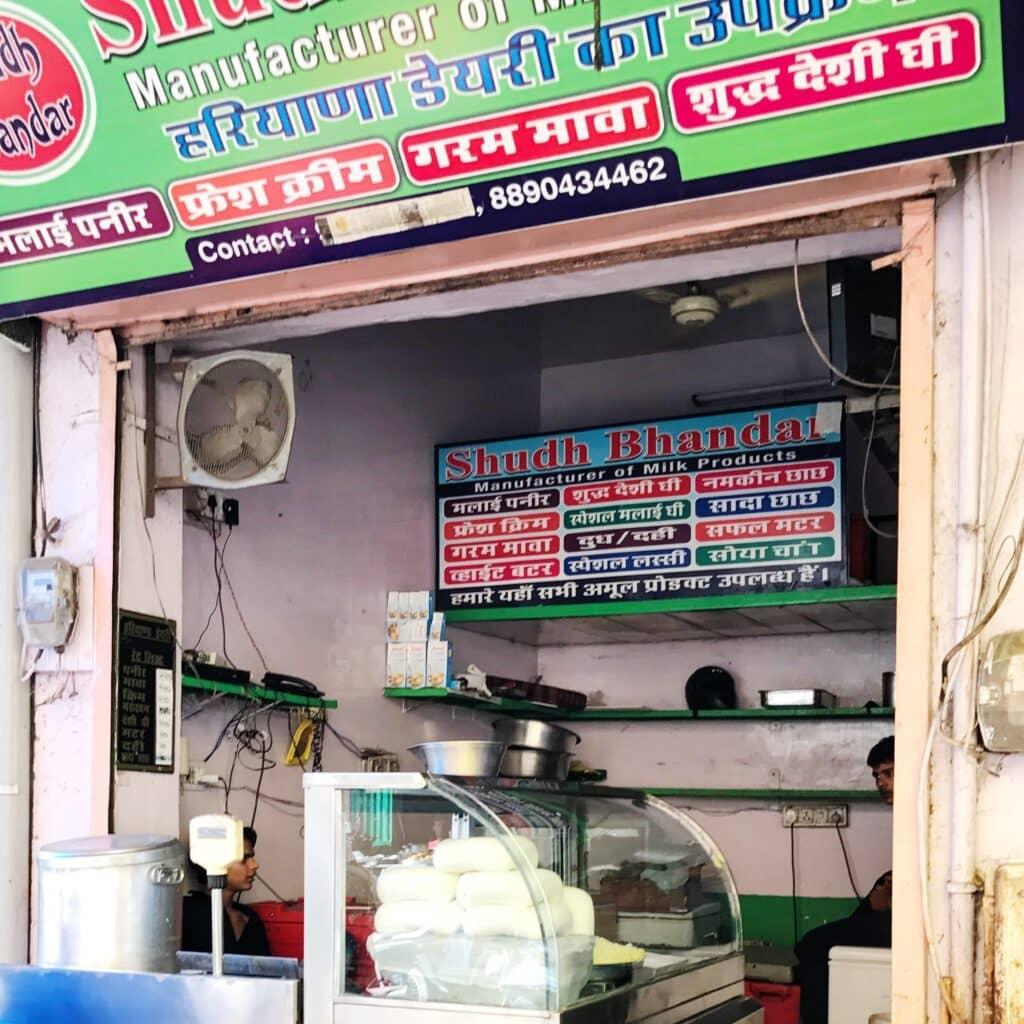 Geschäft für Milchprodukte in Jaipur