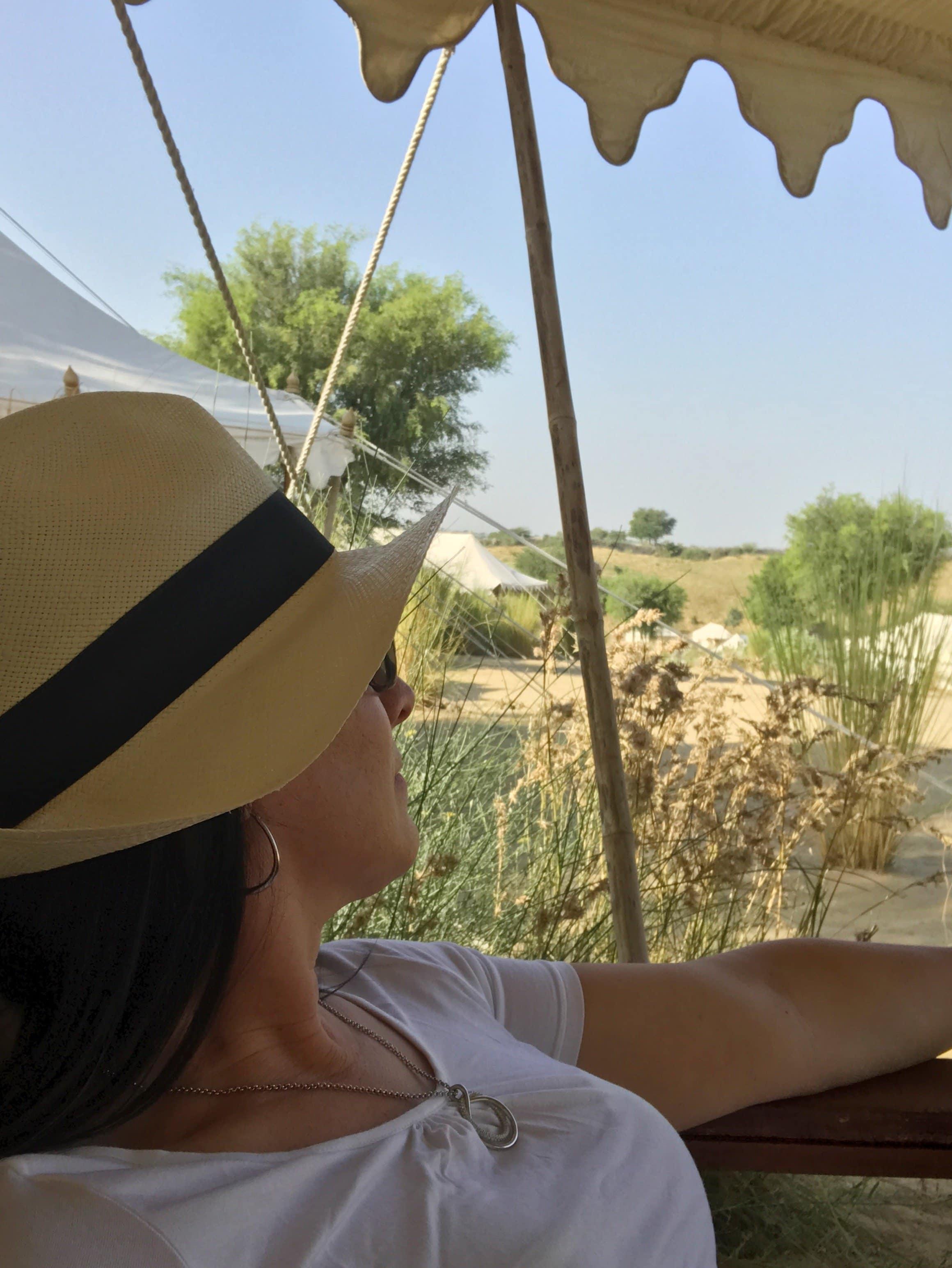 Relaxen im Camp auf unserer Terrasse