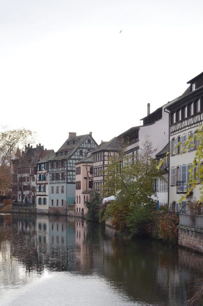 Häuser und Kanäle in Straßburg La Petite France