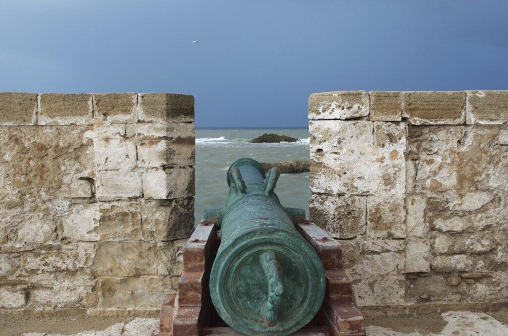 Festungsanlagen im Hafen von Essaouira