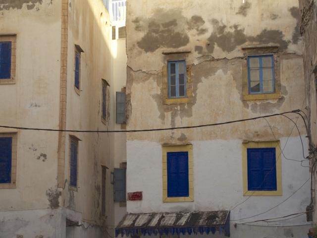 Häuser in der Medina Wind und Wetter ausgesetzt