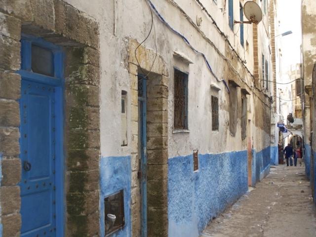 Enge Gassen in der Medina von Essaouria