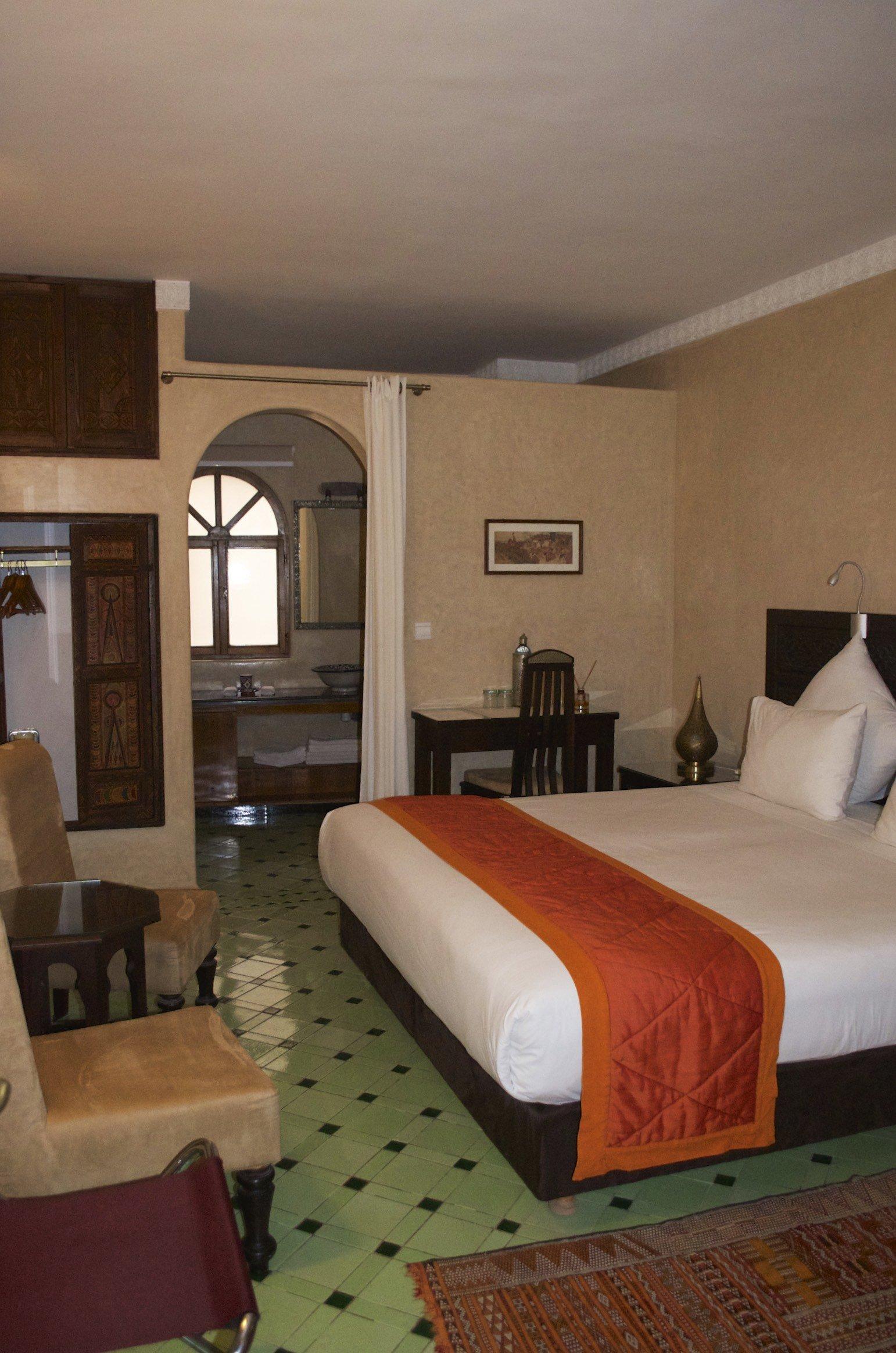 Zimmer (stadtseitig) im Riad Perle D Eau