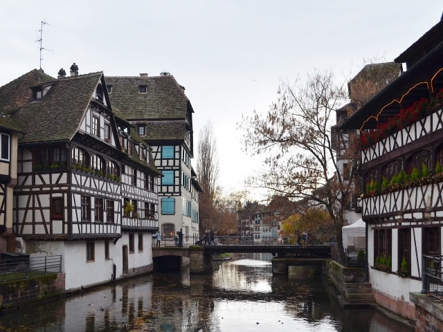Drehbrücke in Straßburg La Petite France