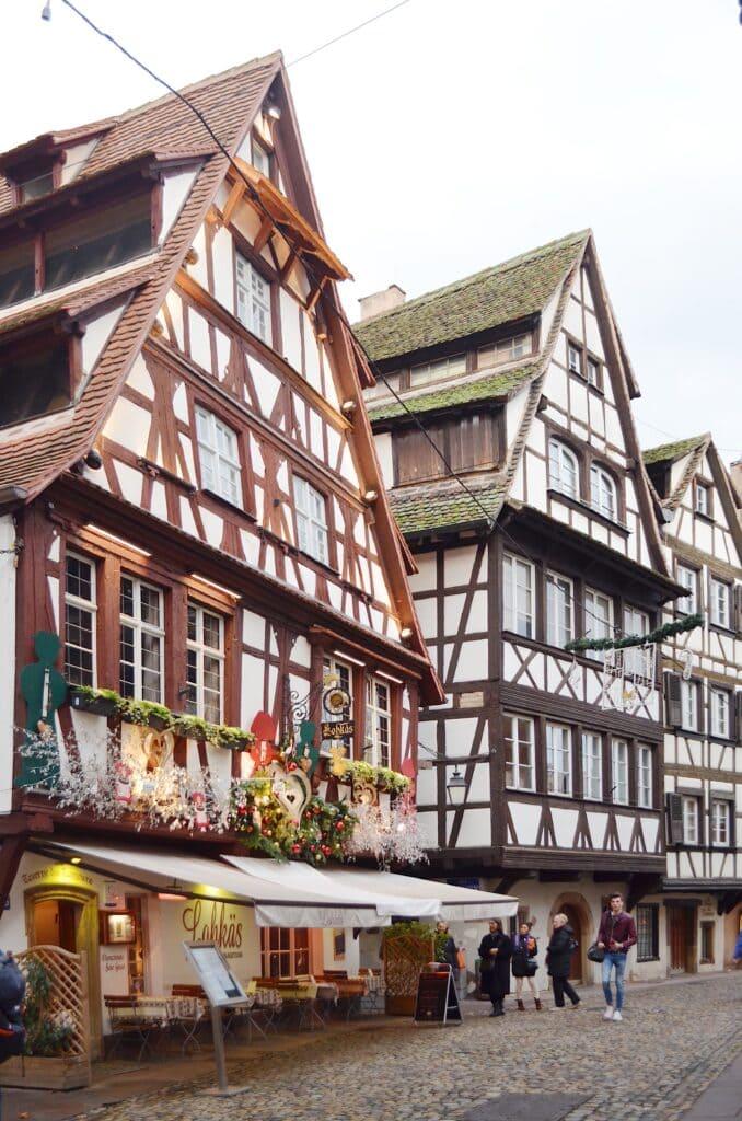 Fachwerkhäuser in Klein Frankreich Straßburg