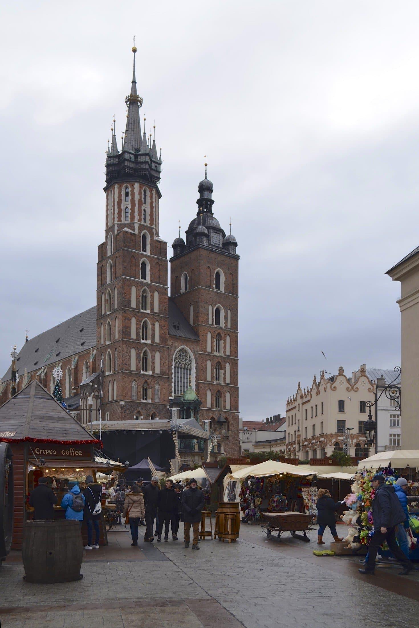 Weihnachtsmarkt Krakau und Marienkirche