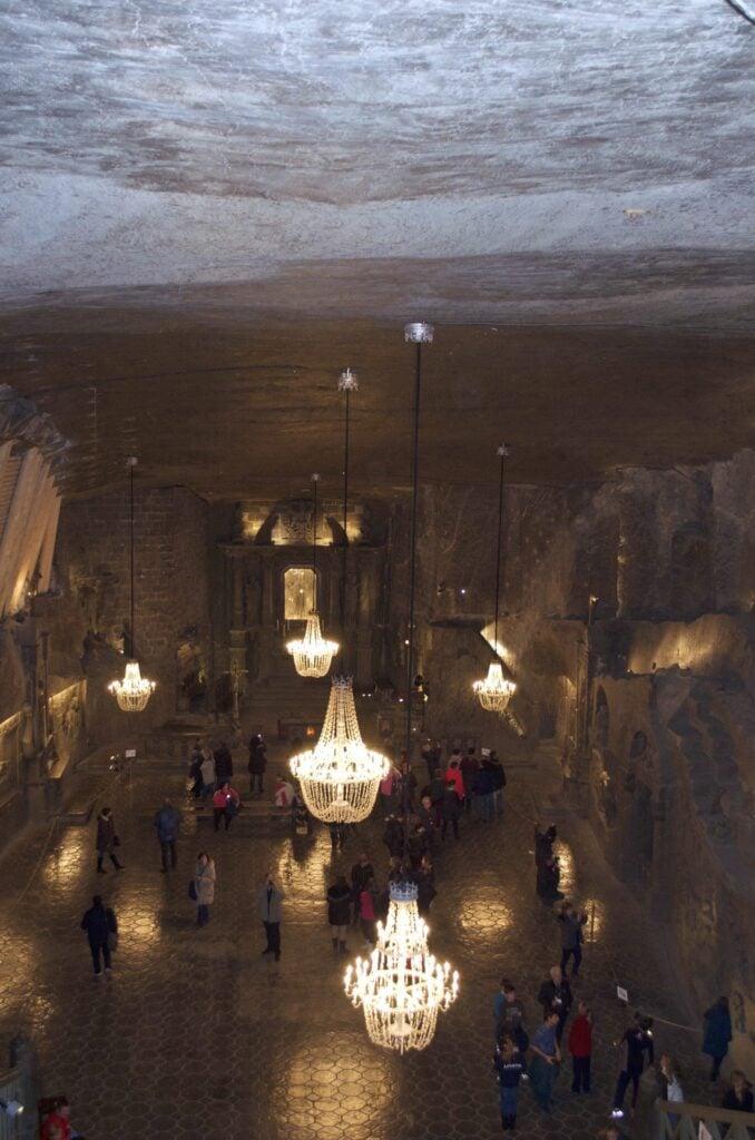 Kapelle der Kinga im Salzbergwerk Wieliczka bei Krakau