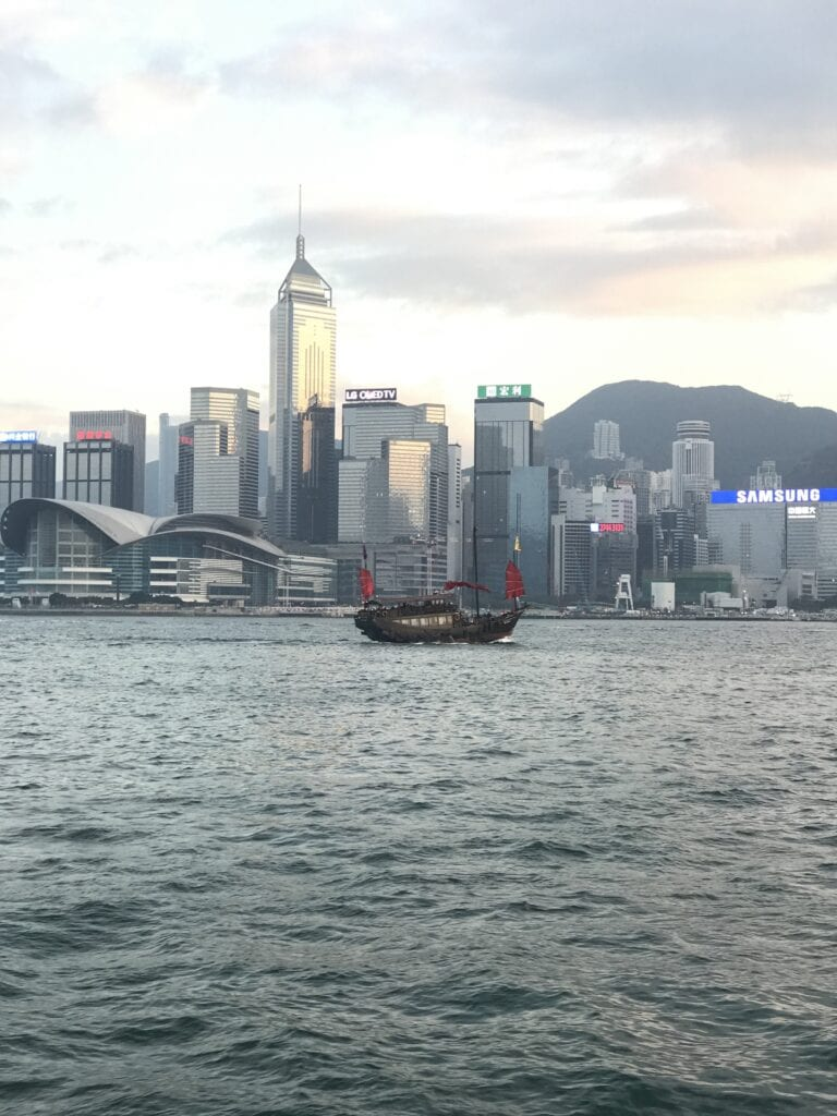 Dschunke in Hongkong