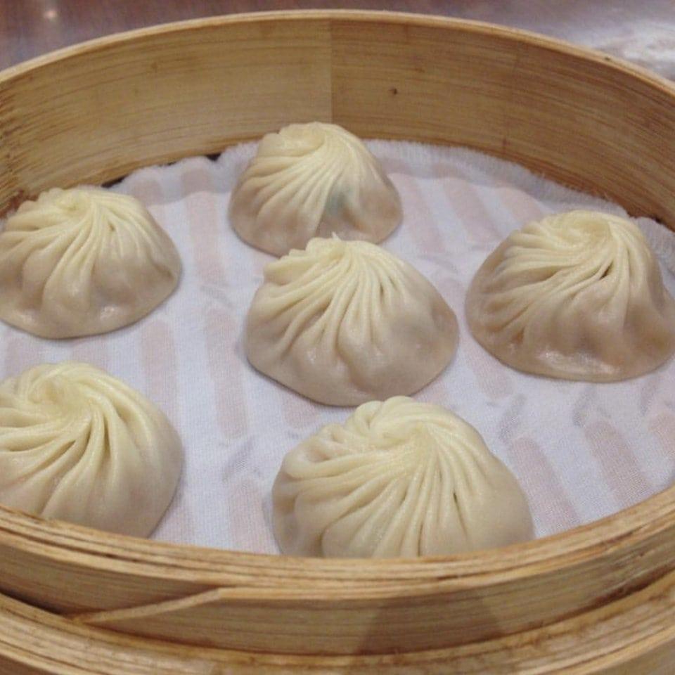 Xio Long Bao mit Huhn im Ding Tai Fung Hongkong
