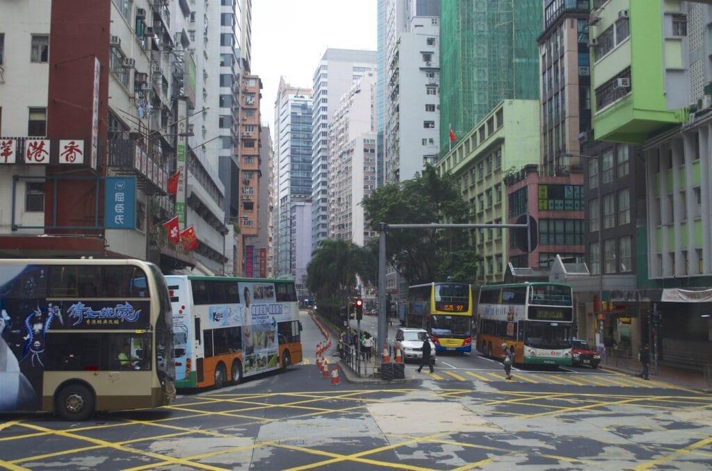 Straßen auf Hong Kong Island
