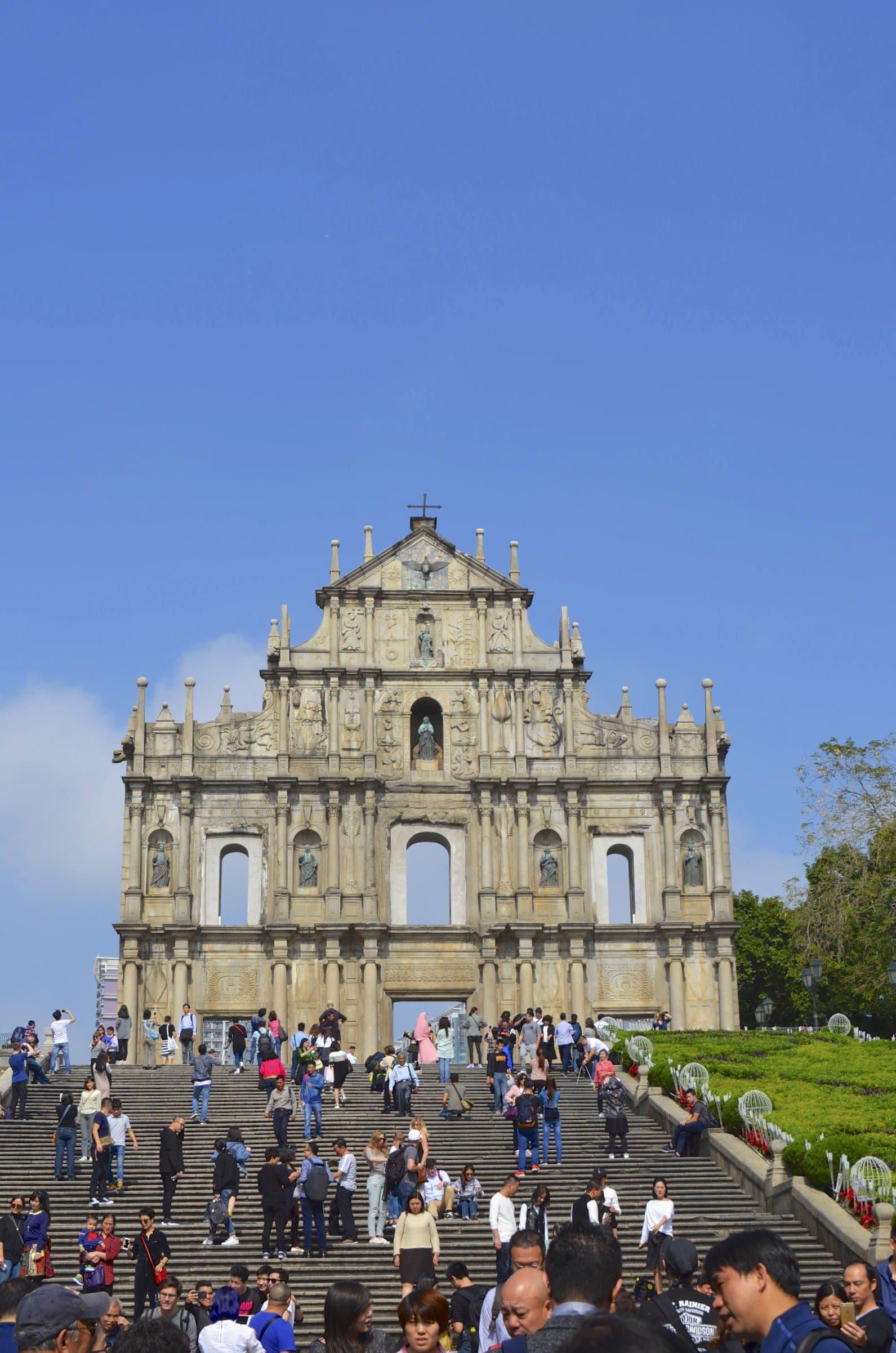 Ruinen der Paulus Cathedrale Macao
