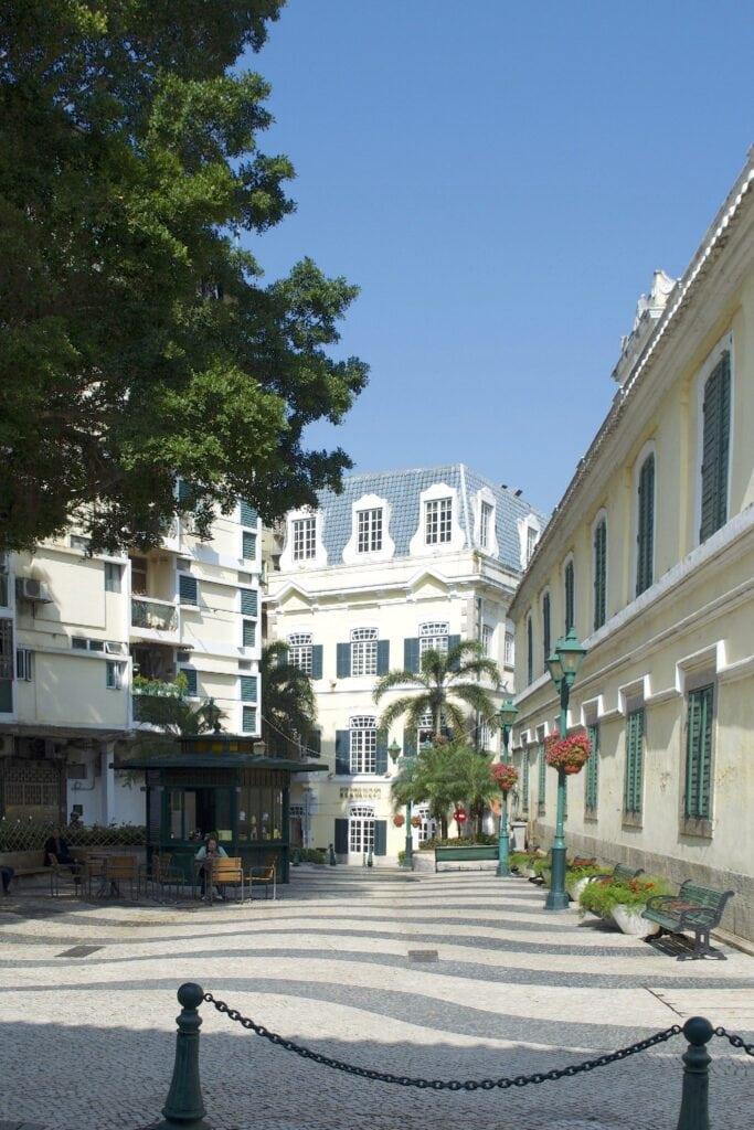 Koloniale Gebäude in Macao