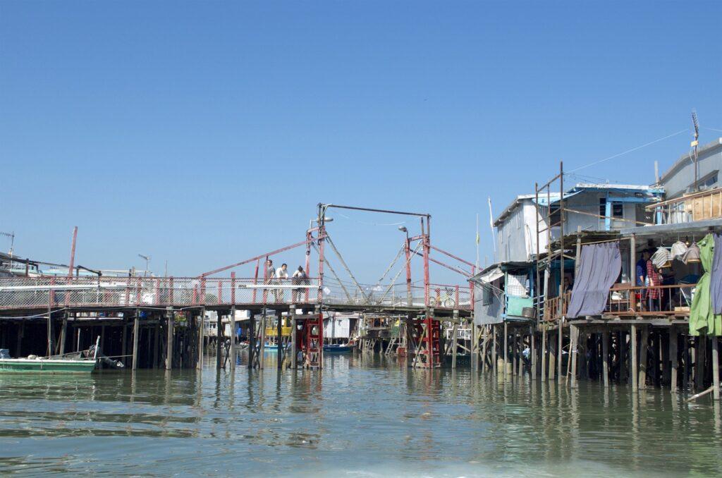 Brücke im Fischerdorf O Tai auf Lantau (Hongkong)