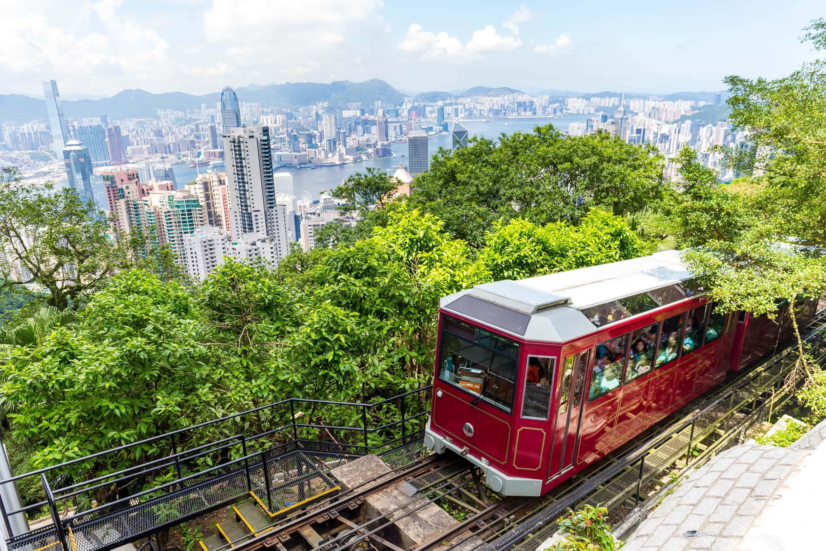 Hongkong Victoria Peak Tram