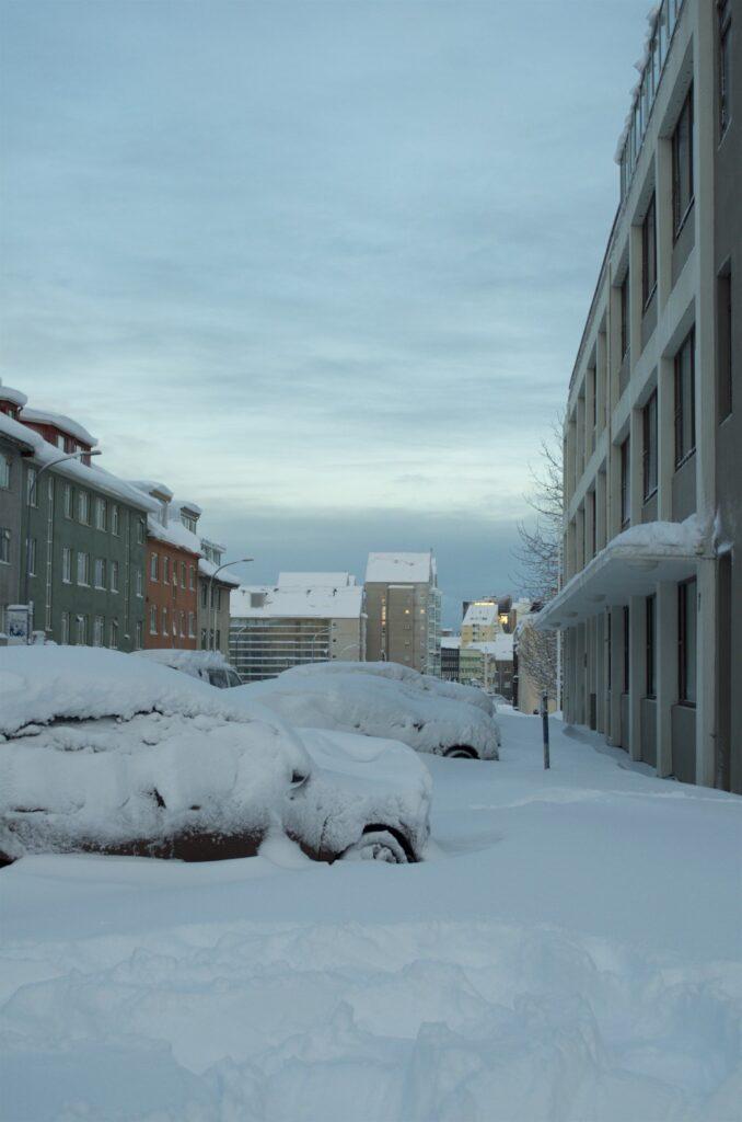 Reykjavik versinkt im Schnee