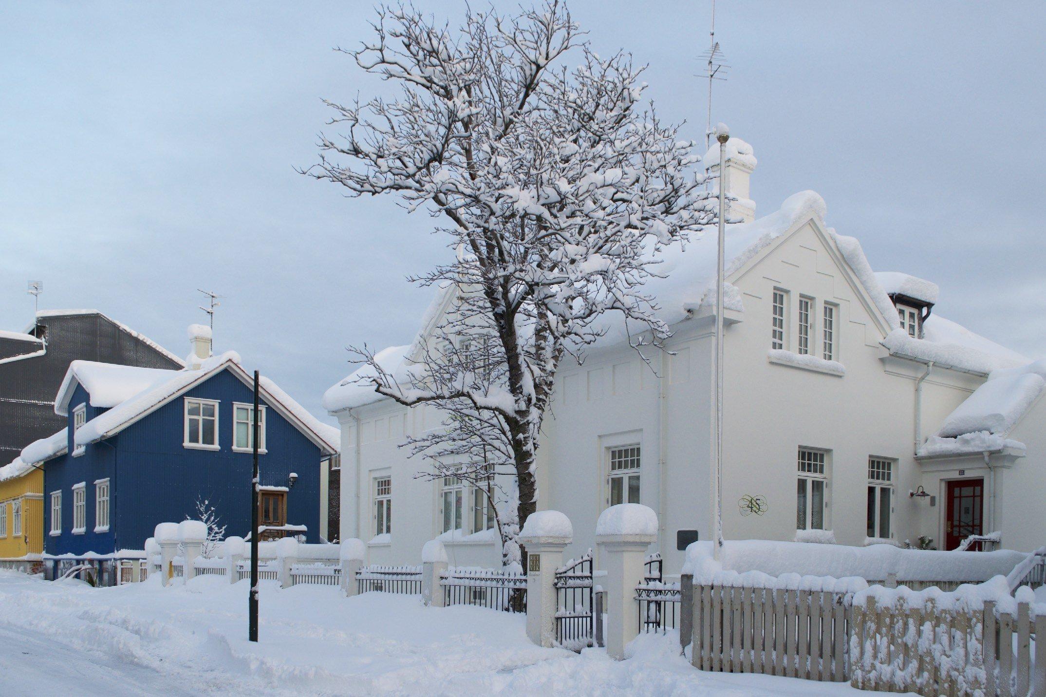 Reykjavik als Winterwunderland