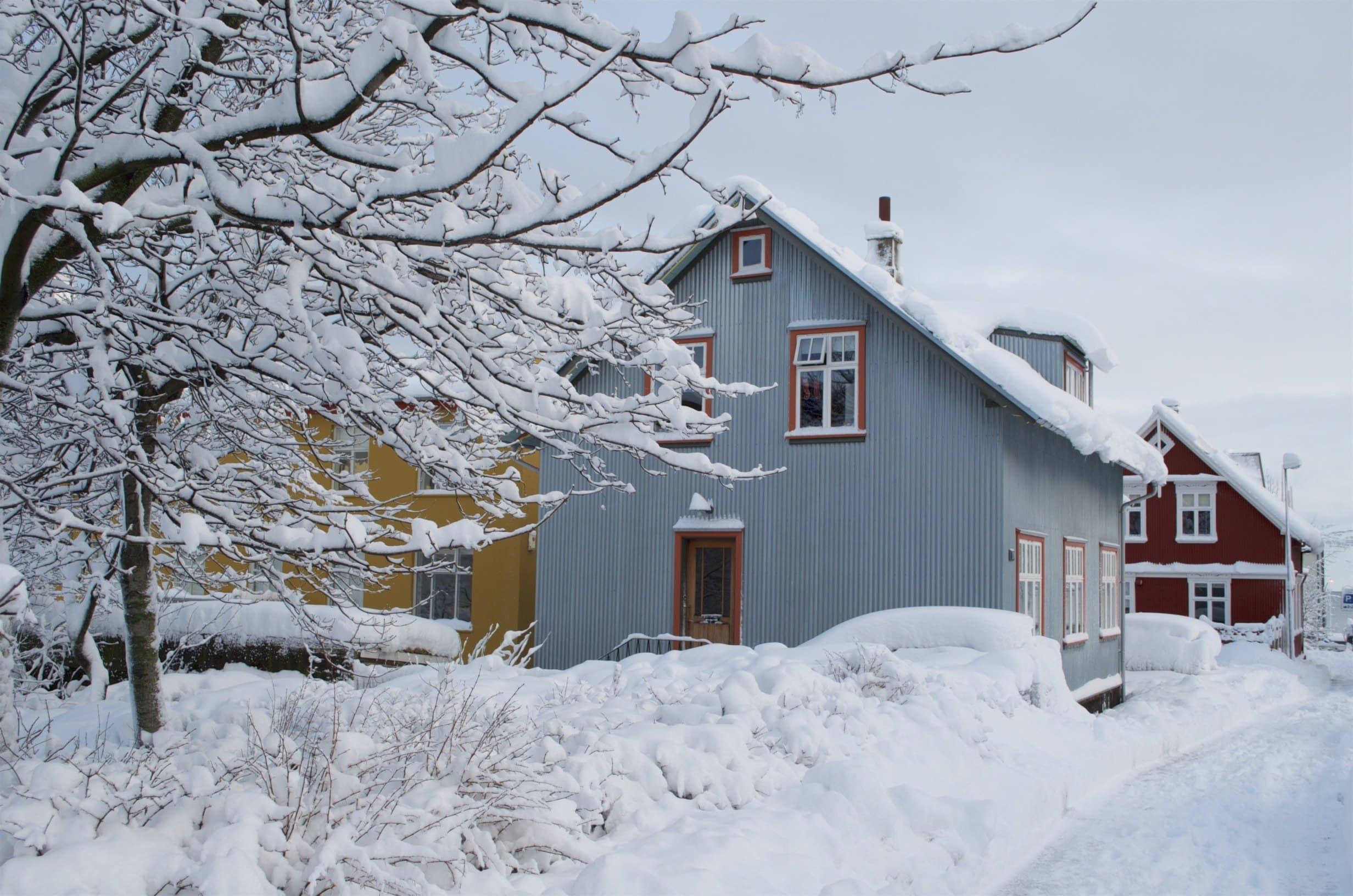 Reykjavik Häuser zwischen Hverfisgata und Lindargarta