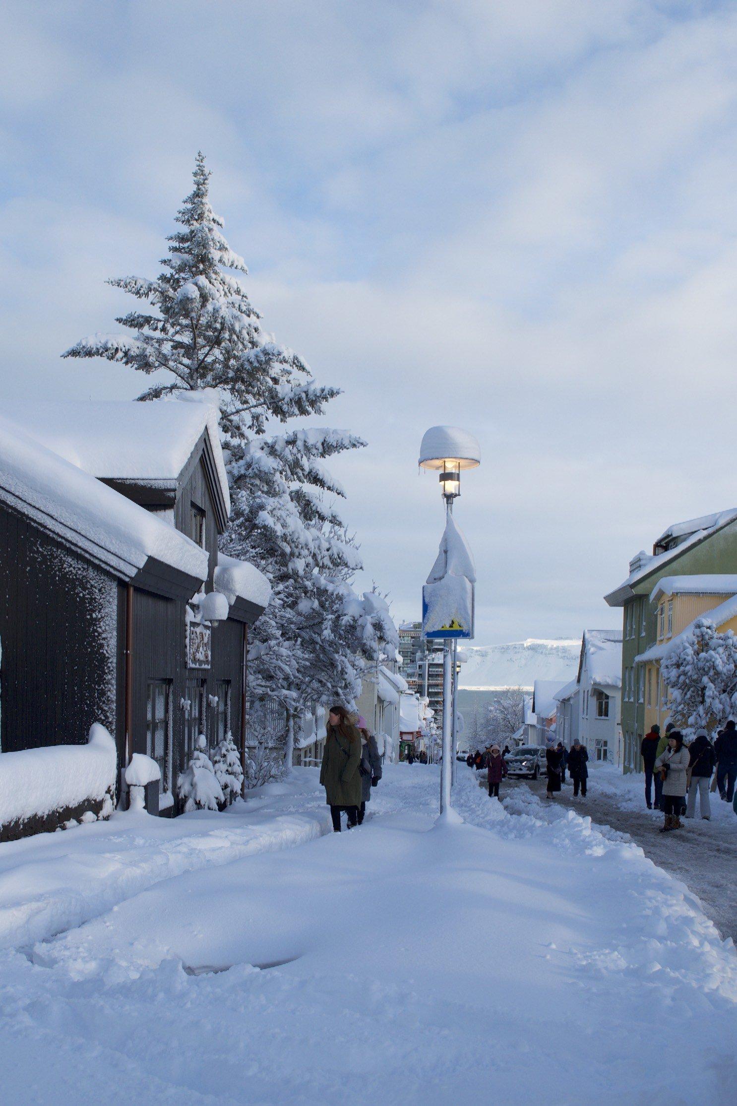 Reykjavik Schneerekord seit 80 Jahren