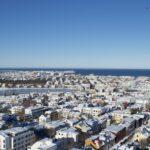 Reykjavik Blick auf den Tjörnin mit der Nationalgalerie